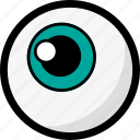 blue eye, eye, eyeball, halloween, organ, scary icon