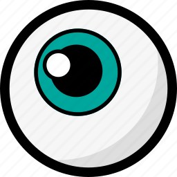 blue eye, eye, eyeball, halloween, organ, scary icon