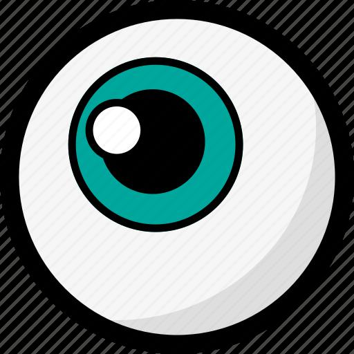 ball, blue eye, eye, eye ball, eyeball icon