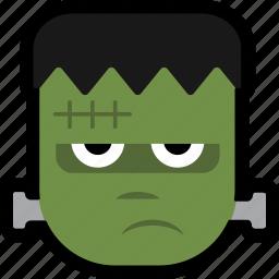 avataar, face, frankenstein, halloween, monster icon
