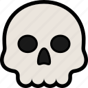 bone, death, halloween, scary, skull icon
