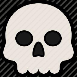 bone, death, halloween, scary, skull icon