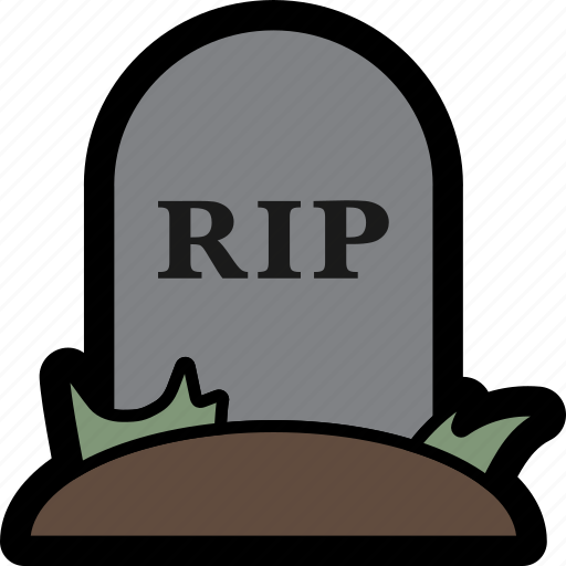 death, grave, halloween, rip, spooky, tombstone icon