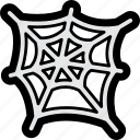 cobweb, halloween, spider, spiderweb, web icon