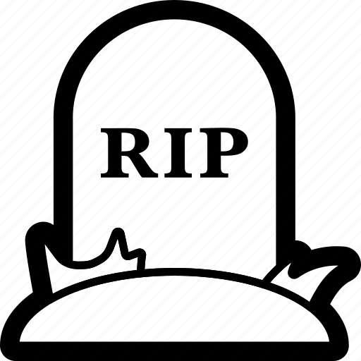 death, grave, halloween, rip, spooky, tomb, tombstone icon