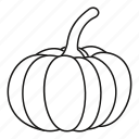 autumn, food, harvest, line, outline, pumpkin, vegetable icon