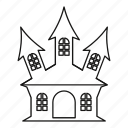 ancient, estate, home, line, outline, palace, residential icon