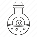 cooking, flask, line, outline, pot, potion, witch icon