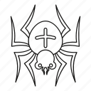 animal, arachnid, halloween, insect, line, outline, spider icon