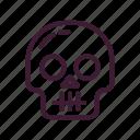 bones, halloween, head, skull icon