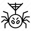 fear, horror, net, spider icon
