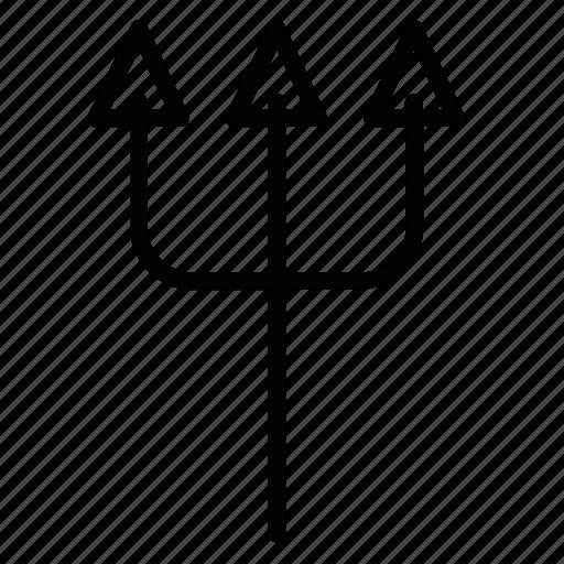 garpun, horror, tool, trident, weapon icon