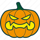 anger, fury, halloween, pumpkin, rage icon