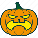 angry, fury, halloween, pumpkin icon