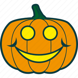 halloween, happy, pumpkin, smile icon