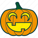 halloween, happiness, joy, laughing, pumpkin icon
