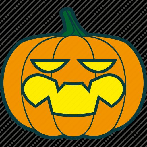 halloween, pumpkin, sarcastic, snide icon