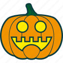 cheerful, halloween, pumpkin, smile icon