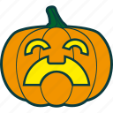 halloween, pain, pumpkin, suffering icon