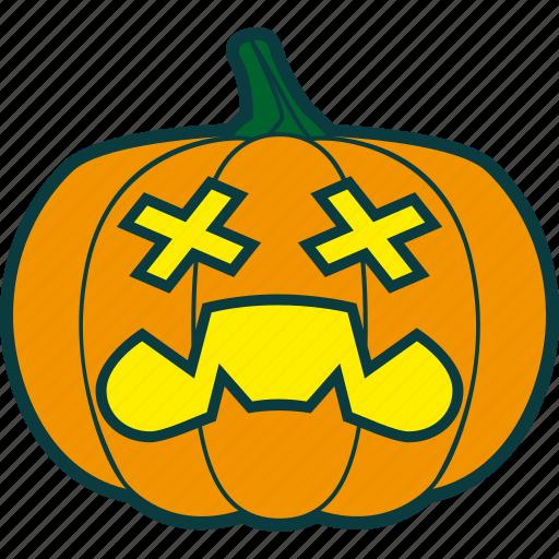 dead, halloween, pumpkin, zombie icon