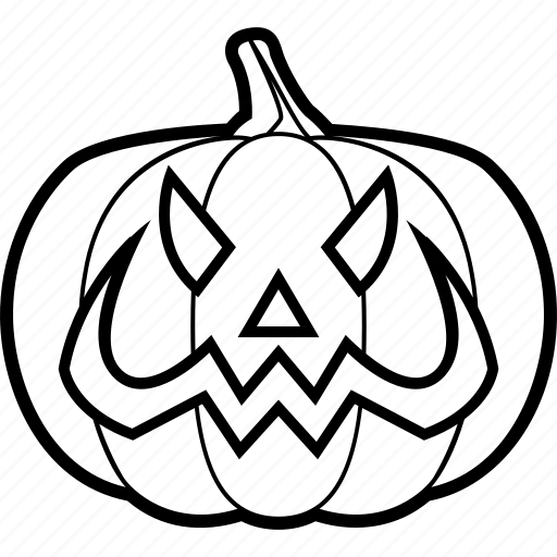 bad, evil, halloween, pumpkin, smile icon