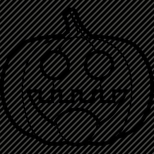 cheerful, halloween, pumpkin, smile icon