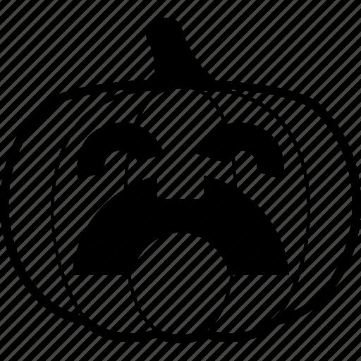 halloween, pain, pumpkin, suffering icon