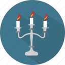 candles, decoration, halloween icon