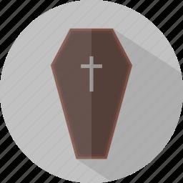 coffin, death, halloween icon