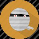 halloween, monster, mummy icon