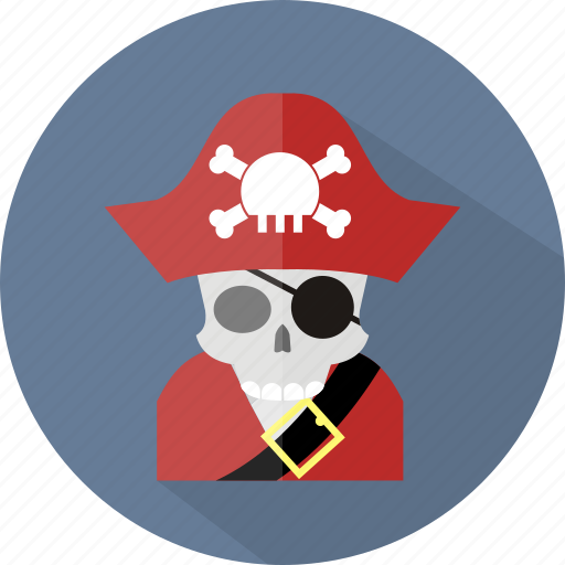 ghost, halloween, pirate icon