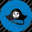 halloween, hat, pirate icon