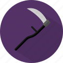 accessories, halloween, scythe icon