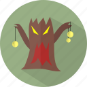 ghost, halloween, tree icon