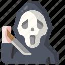 spooky, avatar, killer, knife icon