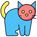 animal, cat, halloween icon icon
