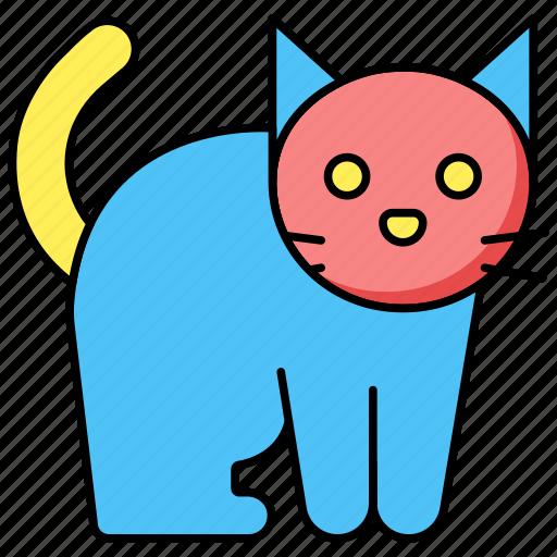 animal, cat, halloween icon icon