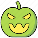 face, halloween, pumpkin, scary icon icon
