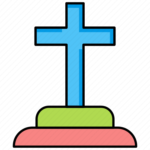 funeral, gravestone, graveyard, halloween, rip, tombstone icon icon