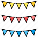 festival, halloween, party, party flags icon icon