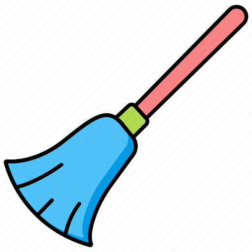 broom, halloween, horror, scary, witchicon icon