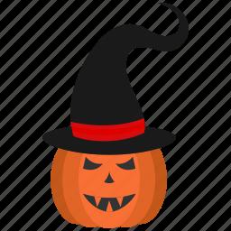 food, fruit, halloween, hat, pumpkin, vegetable icon