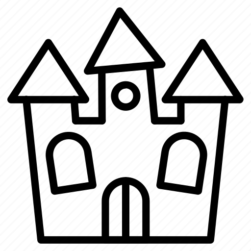 building, castle, halloween, home, house, scary, spooky icon