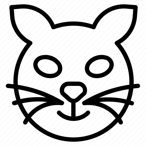 cat, devil, evil, face, thinking, unhappy icon