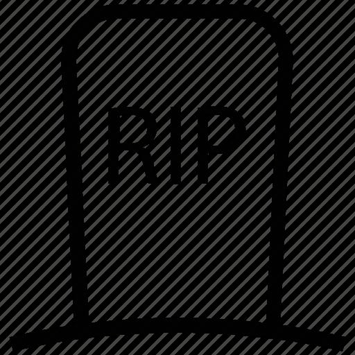halloween gravestone, halloween rip, headstone, tombstone icon