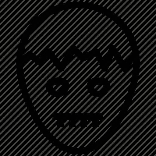 halloween boy, halloween mask, happy boy, spooky face icon