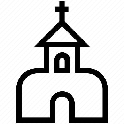 chapel, christian, church, church building, religious building icon