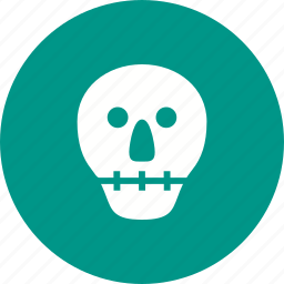 face, head, horror, scary, skeleton, skull, teeth icon