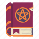 book, halloween, magic, witchcraft icon
