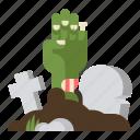 halloween, tomb, zombie icon